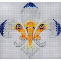 click here to view larger image of Eagle Fleur (hand painted canvases)