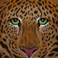 click here to view larger image of Leopard Box Top - Large (hand painted canvases)
