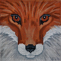 click here to view larger image of Fox Box Top - Small (hand painted canvases)