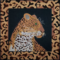 click here to view larger image of Leopard And Skin (hand painted canvases)