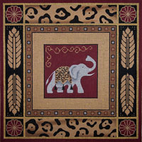 click here to view larger image of Tribal Elephant - 13ct (hand painted canvases)