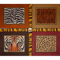 click here to view larger image of Animal Skins - Tiger Face With Ribbon (hand painted canvases)