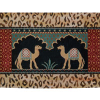 click here to view larger image of Camels In Temple (hand painted canvases)