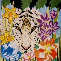 click here to view larger image of Flower Tiger (13ct) (hand painted canvases)