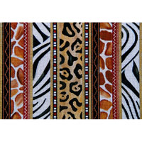 click here to view larger image of Animal Skin Stripes (13ct) (hand painted canvases)