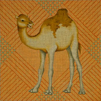 click here to view larger image of Camel Pillow (hand painted canvases)