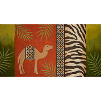 click here to view larger image of Camel and Zebra Skin (hand painted canvases)