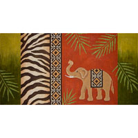 click here to view larger image of Elephant and Zebra Skin (hand painted canvases)