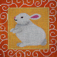 Bunny With Orange Swirls - click here for more details