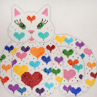 Reclining Happy Hearts Kitty - click here for more details
