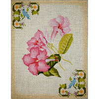 click here to view larger image of Pink Mandevilla (hand painted canvases)