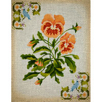 click here to view larger image of Peach Pansies (hand painted canvases)