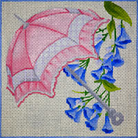 click here to view larger image of Pink Parasol Floral (hand painted canvases)