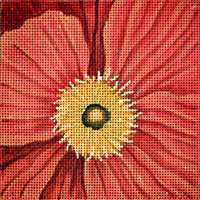 click here to view larger image of Orange Poppy (hand painted canvases)