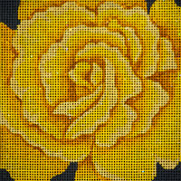 click here to view larger image of Midas Touch Rose (hand painted canvases)