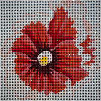 click here to view larger image of Peach Pansy (hand painted canvases)