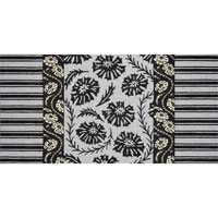 click here to view larger image of Black and White Flowers with Ribbons (hand painted canvases)