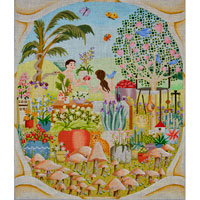 click here to view larger image of Adam and Eves Garden (hand painted canvases)