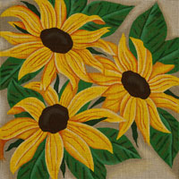 click here to view larger image of Special Sunflowers (hand painted canvases)