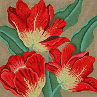 click here to view larger image of Terrific Tulips (hand painted canvases)