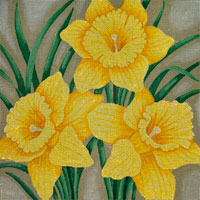 click here to view larger image of Lady Janes Delicious Daffodils (hand painted canvases)
