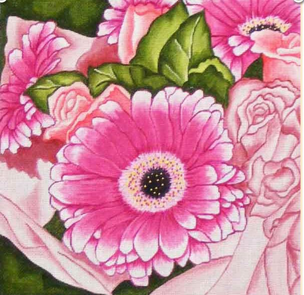 click here to view larger image of Bouquet (hand painted canvases)