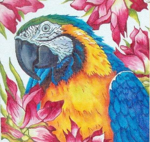 click here to view larger image of Parrot (hand painted canvases)