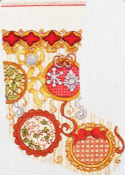 click here to view larger image of Christmas Stocking (hand painted canvases)