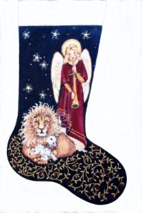click here to view larger image of Harmony Stocking (hand painted canvases)
