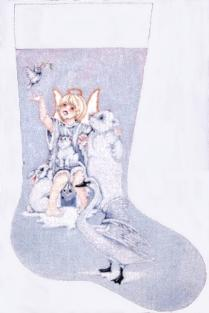 click here to view larger image of Blessed Are The Peacemakers Stocking (hand painted canvases)