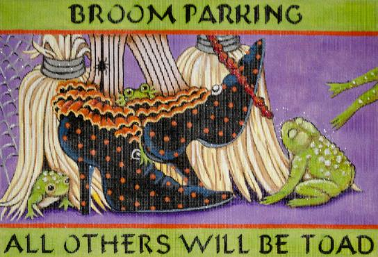 Broom Parking hand painted canvases