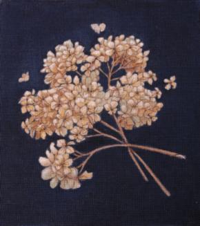 click here to view larger image of Dried Hydrangea (hand painted canvases)