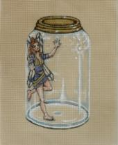 click here to view larger image of Blue Fairy In A Jar (hand painted canvases)