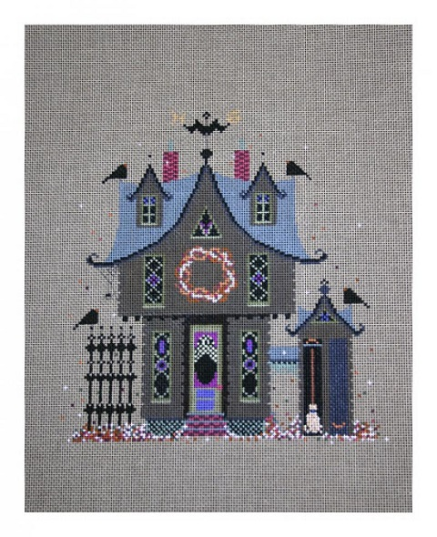 click here to view larger image of Three Gables - No Background (hand painted canvases)