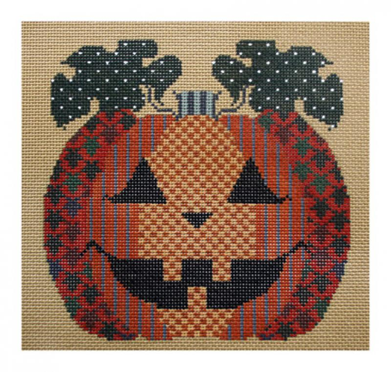 click here to view larger image of Patterned Pumpkin (hand painted canvases)