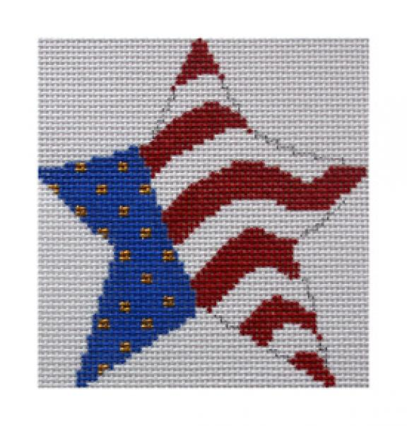 click here to view larger image of Broad Stripes and Bright Stars (hand painted canvases)