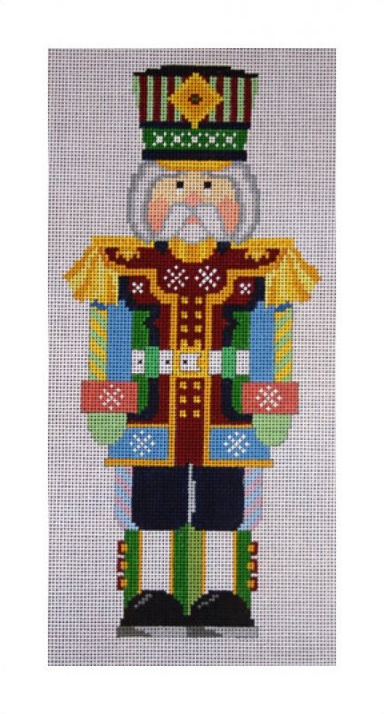 click here to view larger image of Snowflake Nutcracker (hand painted canvases)