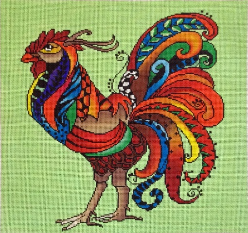 click here to view larger image of Rooster - 18ct (hand painted canvases)