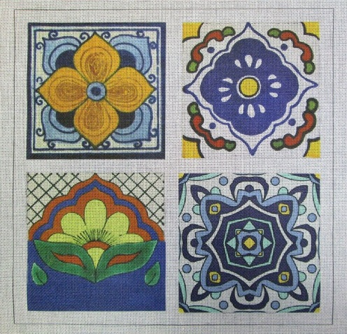click here to view larger image of Talavera Tile 1 (hand painted canvases)
