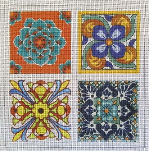 click here to view larger image of Talavera Tile 2 (hand painted canvases)