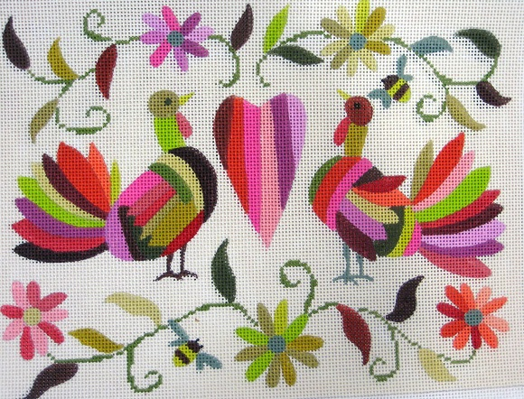 click here to view larger image of Mexican Turkey Valentine (hand painted canvases)