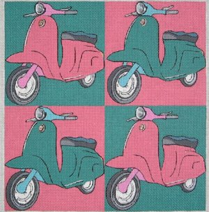 click here to view larger image of Scooter Pop Art (hand painted canvases)