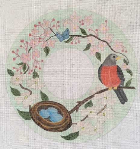 click here to view larger image of Spring Wreath (hand painted canvases)