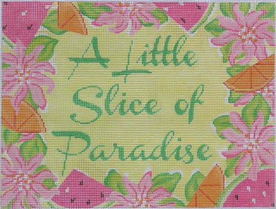 click here to view larger image of A Little Slice Of Paradise - Lilly (hand painted canvases)