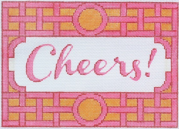 click here to view larger image of Cheers! - Trellis Border (hand painted canvases)