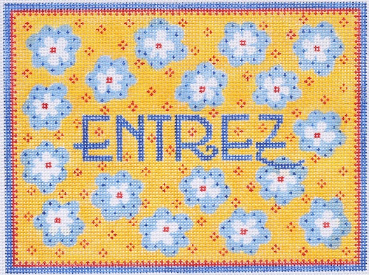 click here to view larger image of Entrez Provencal Door Hanger (hand painted canvases)