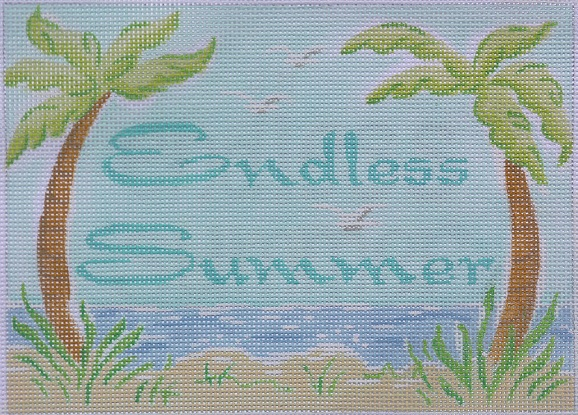 click here to view larger image of Endless Summer - Lilly (hand painted canvases)