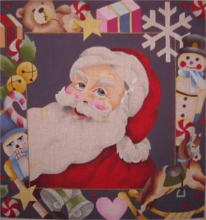 click here to view larger image of Santas Toys Pillow (hand painted canvases)