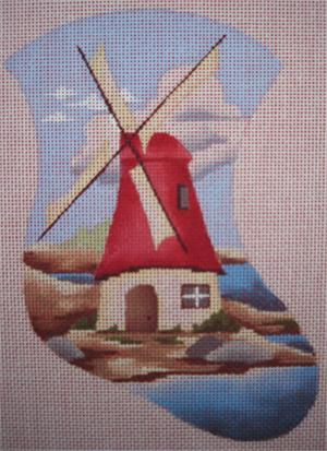 click here to view larger image of Windmill Mini Stocking (hand painted canvases)