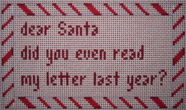 click here to view larger image of Dear Santa Did You Read? (hand painted canvases)